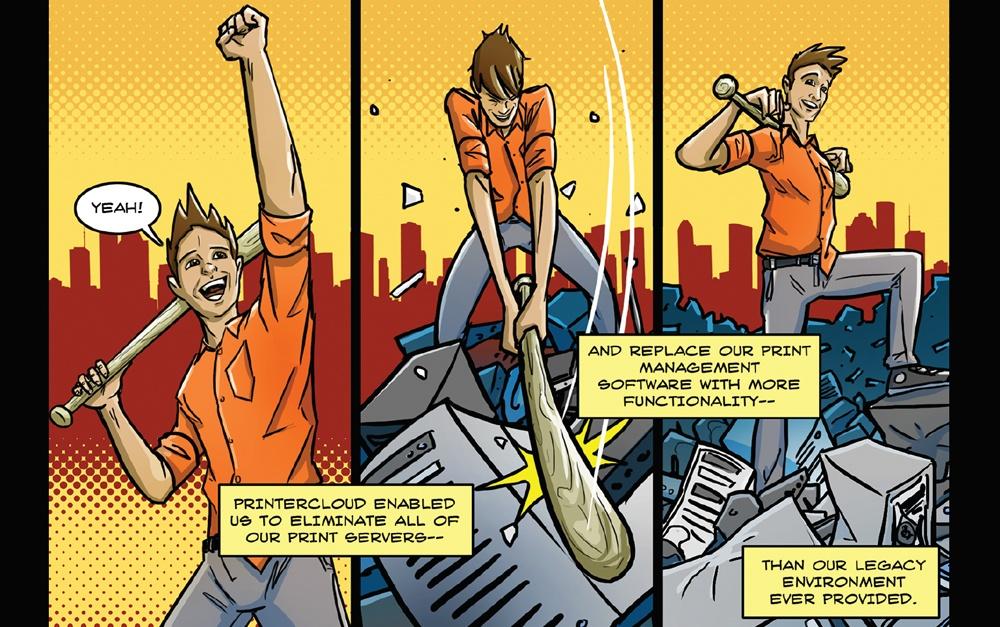 PrinterLogic Comic Strip Social